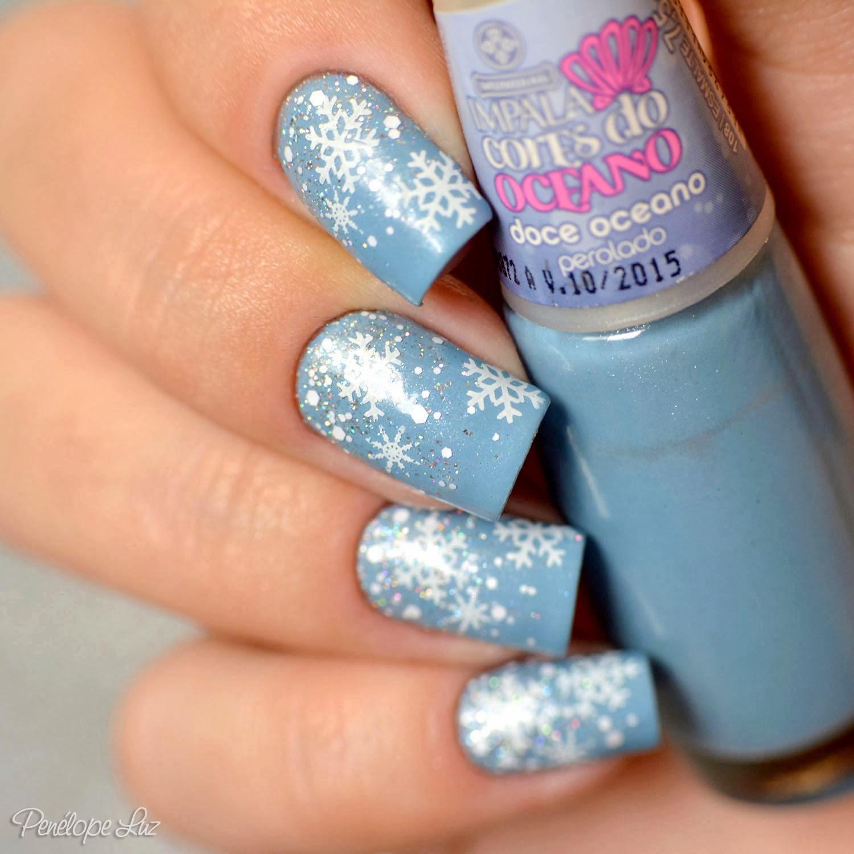Blue Christmas Nail Art: Penélope Luz